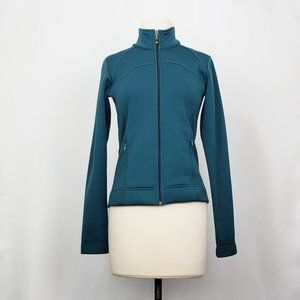 Lucy Teal Green Zip Front Jacket XS